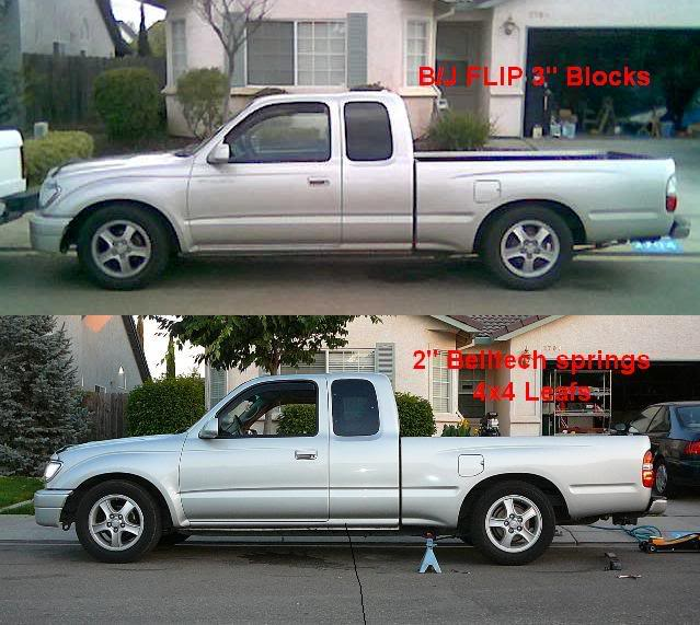 1995-2004 Toyota Tacoma Complete 3//4 Lowering kit by DJM