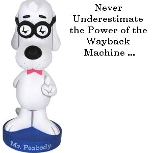 As Mr. Peabody reminds us all ...